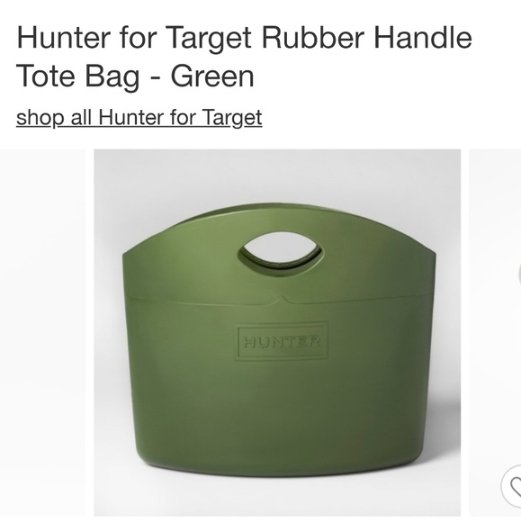 cf21b41a5c31 Brand new Hunter for Target Rubber Tote Bag